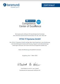 Competence Center of Excellence Zertifikat 2021
